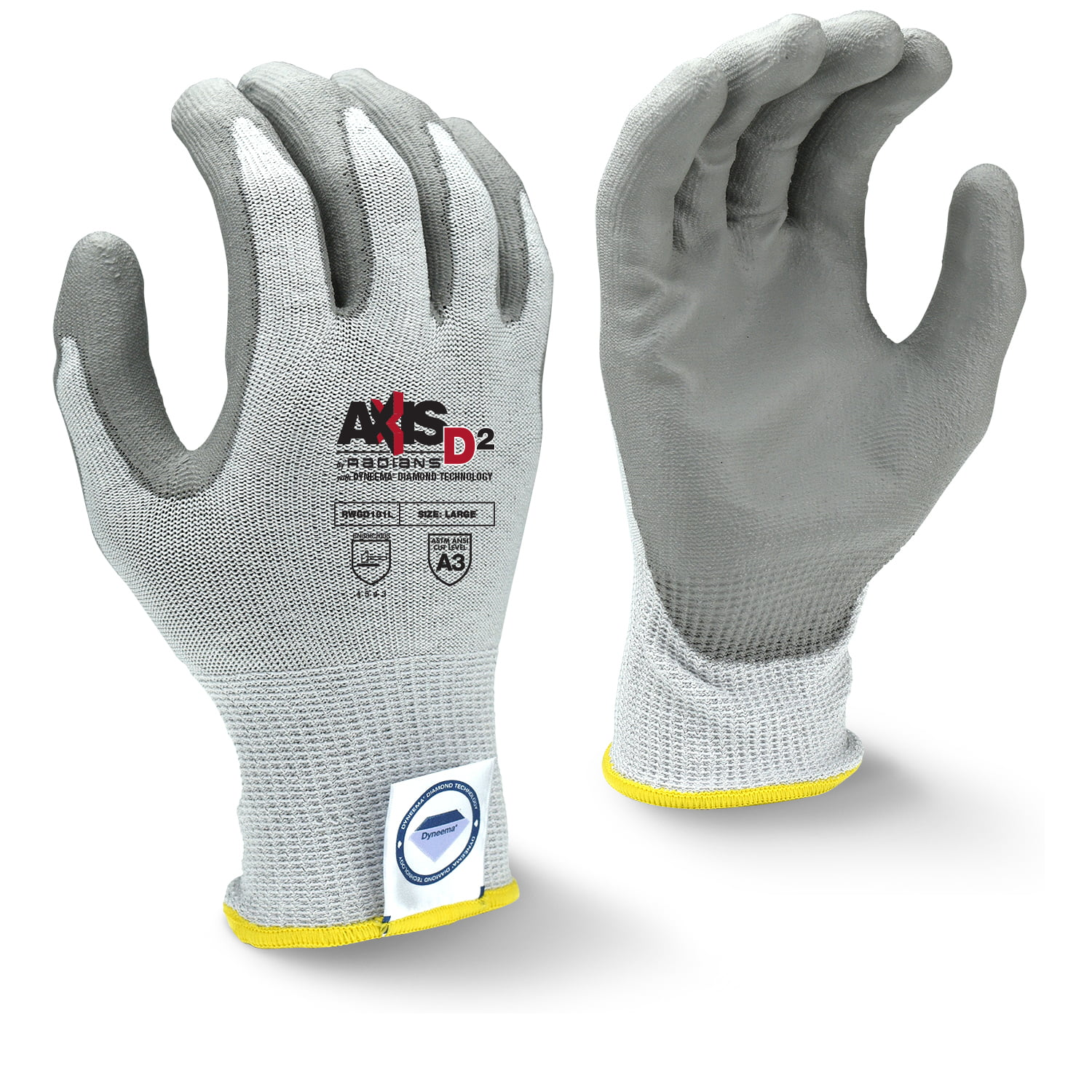 13 gauge Cut Resistant Gloves, Gray/White - Radians RWGD101 (Sold by the  pair)