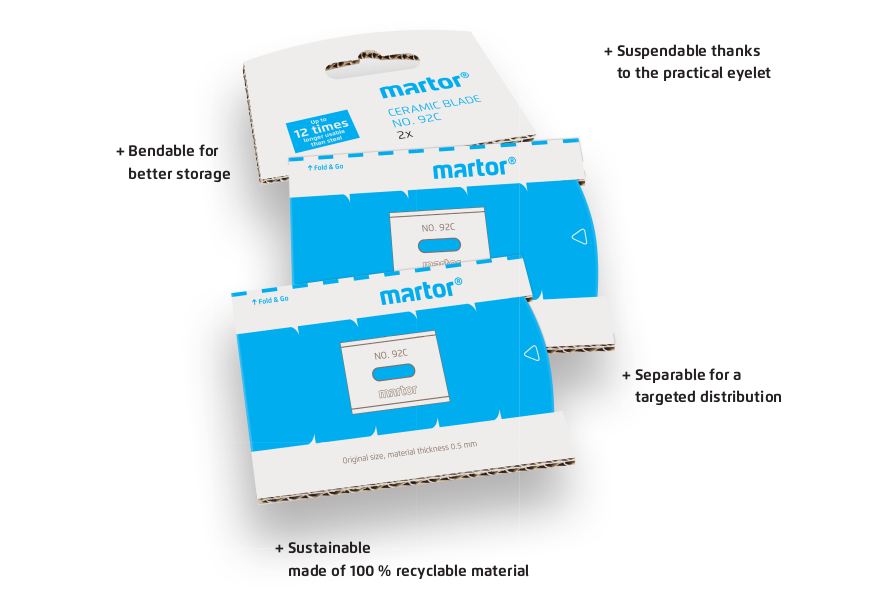MARTOR ceramic flexible packaging blades have an edge over steel. 792.25 - #92 ceramic